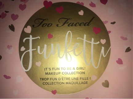 Too faced funfetti plus more beauty makeup lot