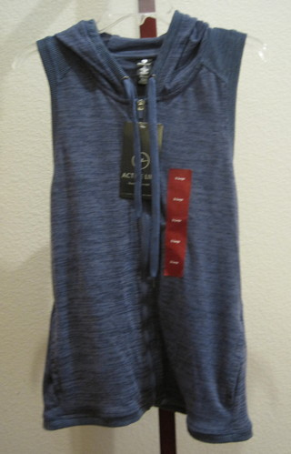 Active Life Women's Hooded Vest XL Blue Heather NWT