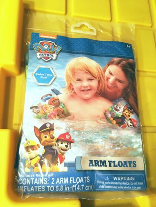 NEW Nickelodeon Nick Jr. PAW Patrol Water Arm Floats INCLUDES Patch Repair Kit FREE SHIPPING