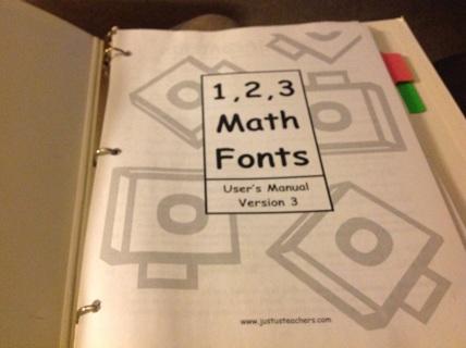 USER Manual- 1,2,3 MATH FONTS