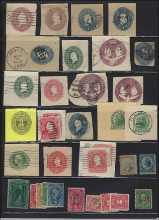 US BOB Envelope Stamp collection with revenues