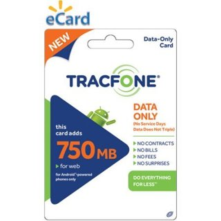 (Email Delivery) TracFone Data Card 750MB $20