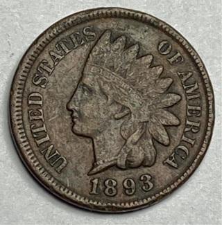 1893 INDIAN HEAD CENT (Full Liberty)