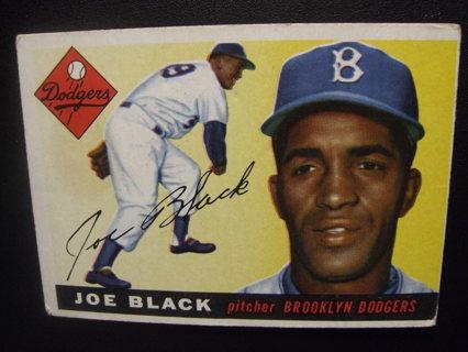 1955 TOPPS BASEBALL CARD HI NO. 156 - JOE BLACK - DODGERS - PSA WORTHY - BV=$50