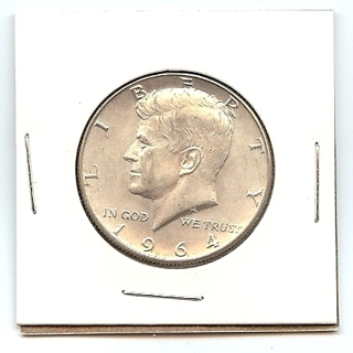 1964 JFK 90% Silver Half Dollar