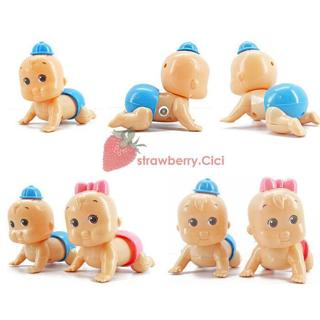 Boys Girls Cute Windup Crawling Crawl Toy Doll Christmas Gift for Child Baby Kid