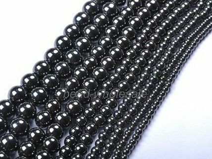 Ball Black Magnetic Hematite Loose Spacer Charms Beads DIY Findings 4,6,8,12mm