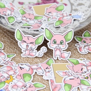 ⚡️ Pink Fox Kawaii High End Sticker Flakes Set of 10 BRAND NEW ⚡️