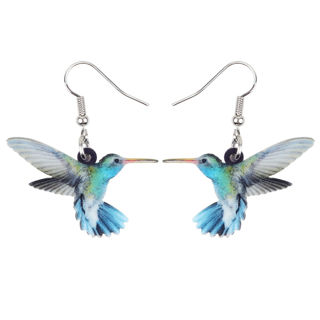 1 Pairs Acrylic Hummingbird Earrings