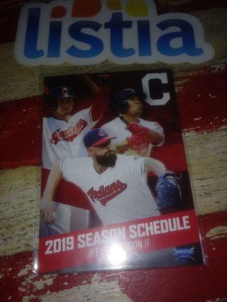2019 Cleveland Indians (MLB) Pocket Schedule