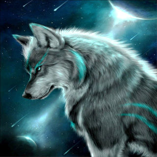 Moon Wolf DIY 5D Diamond Painting Animal Embroidery Cross Stitch Decor Xmas Gift