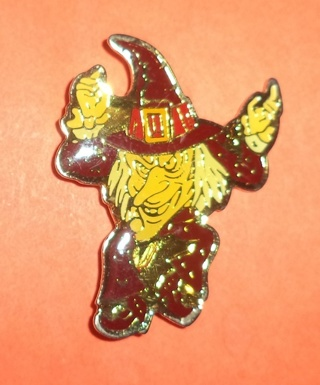 Cloisonne Witch Pin