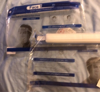 Brand New: TWO Reusable, Washable, Sterile, Adult Face Shields. Never Worn!