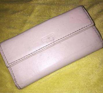 Coach wallet Billfold Clutch Ivory Cream Leather
