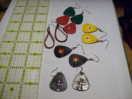 5 pair hand crafted earings