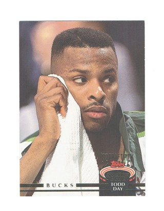 Todd Day Milwaukee Bucks Guard/Forward Topps 1993 NBA Rookie Basketball Card # 263