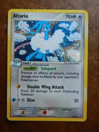 2005 Altaria 1/107 - HOLO RARE Pokemon Card - Ex Deoxys Single (Stunning Colors & FLASH!!!)