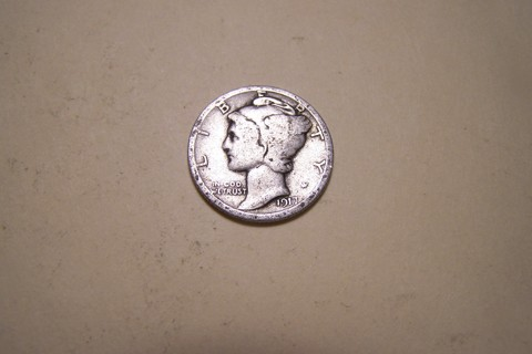 Silver 1917 Winged Liberty Head Mercury Dime