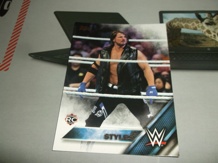 wwe  2016  topps   then   now  forever    aj  styles  rookie   card   #   102