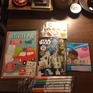 Lot of kids Activity Pads, Stickers, & Markers