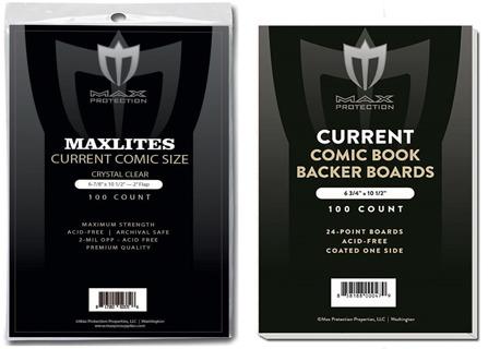 100 Max Pro Archival Maxlites Premium Comic OPP Bags and Boards
