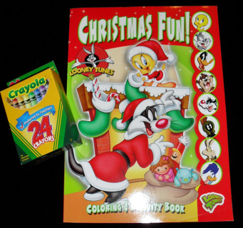 free new looney tunes christmas coloring activity book w 24ct