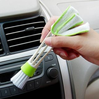 Portable Double Ended Car Air Vent Slit Cleaner Brush Dusting Blinds Keyboard Cleaning Brushes