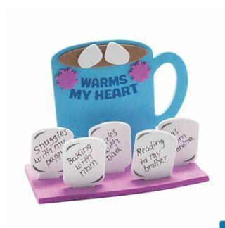 Craft kit warms my heart cocoa mug
