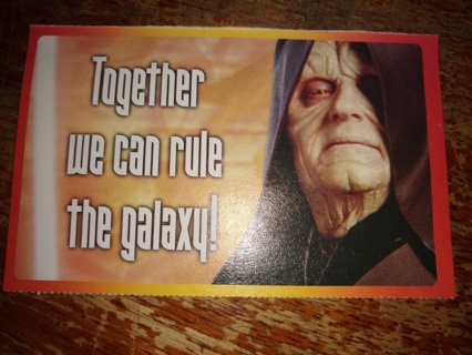 Star Wars Valentine ( Emperor )