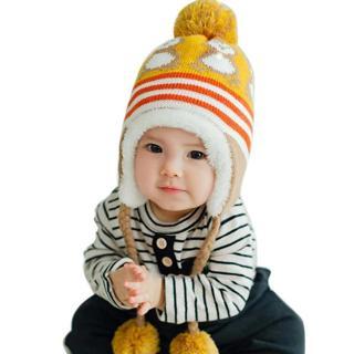Winter Warm Korean Version Cute Baby Hat Penguin Newborn Colorful Baby Winter Hats Hedging Caps