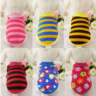 Dog Puppy Cat Warm Clothes Coats Apparel Jumper Sweater Knitwear Costume