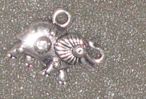 2 Chinese feng shui Lucky Silver Tibetan Elephant Charm