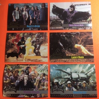 6 Power Rangers 1995 Cards!