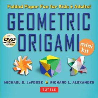 Geometric Origami Mini Kit: Folded Paper Fun Book (48) Modular Origami Papers and Instructional DVD