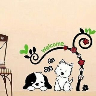Lovely Puppy Dog Wall Stickers Decal Art Mural Living Room Room Decor