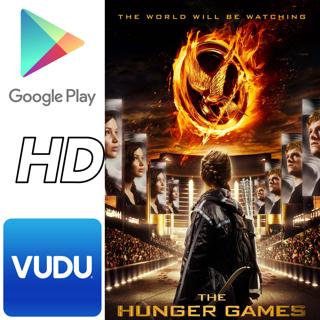 The Hunger Games (1) ~ Digital HD Google Play or Vudu Movie Code ~ JENNIFER LAWRENCE Liam Hemsworth
