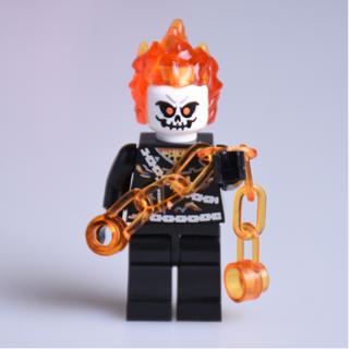New Ghost Rider Minifigure Building Toys Custom Lego