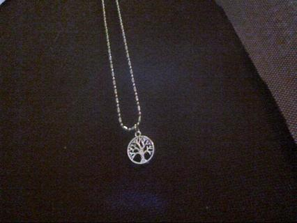 Tree Of Life Charm on Necklace