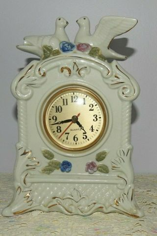 Vintage Dove Wedding Clock