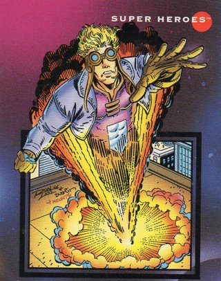 1992 Marvel Comic Trade Card: Cannonball