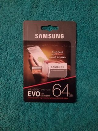 Samsung EVO SD Card 64GB with SD Adapter
