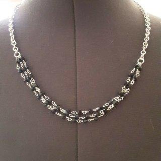 sterling silver black tourmaline necklace