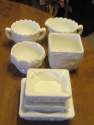 "7 Pieces ""Westmoreland"" Marked Grape Pattern Items"
