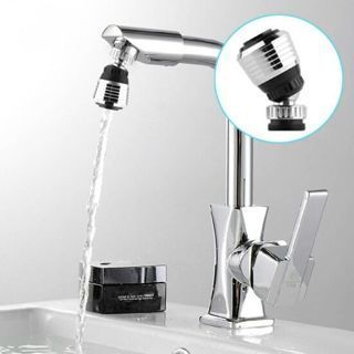 360 Rotate Swivel Faucet Nozzle Filter Adapter Water Saving Tap Aerator Diffuser