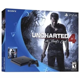 Brand New PlayStation 4 PS4 Slim 500GB Uncharted 4 Bundle - lowest gin!!!