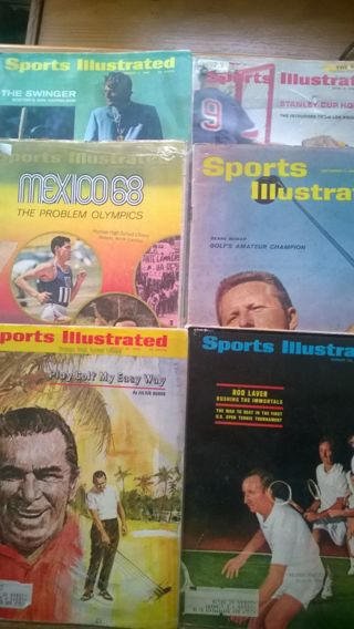 Lot of six (6) Sports Illustrated magazines from the 1960's