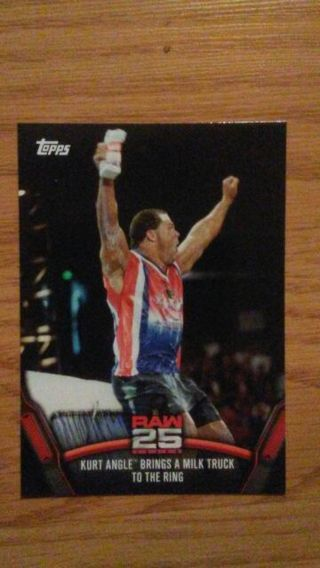 WWE 2018 Now Then Forever Raw 25 Kurt Angle Card