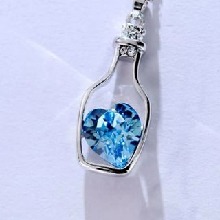Heart Crystal Pendant Necklace Fashion Creative Women Necklace