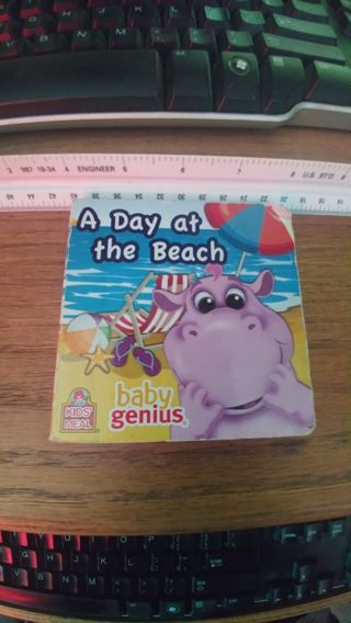 """Wendy's Kids' Meal (2012) Baby Genius Board Book: """"A Day at the Beach"""""""