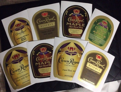 Crown royal stickers eight of them